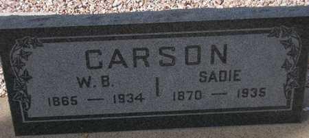 CARSON, W. B. - Maricopa County, Arizona   W. B. CARSON - Arizona Gravestone Photos