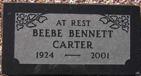 CARTER, BEEBE BENNETT - Maricopa County, Arizona | BEEBE BENNETT CARTER - Arizona Gravestone Photos