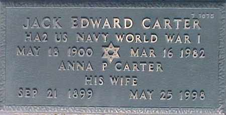 CARTER, JACK EDWARD - Maricopa County, Arizona   JACK EDWARD CARTER - Arizona Gravestone Photos