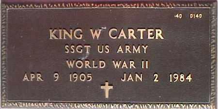 CARTER, KING W. - Maricopa County, Arizona   KING W. CARTER - Arizona Gravestone Photos