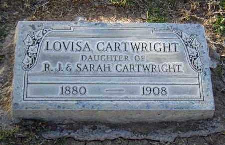 CARTWRIGHT, LOVISA - Maricopa County, Arizona   LOVISA CARTWRIGHT - Arizona Gravestone Photos