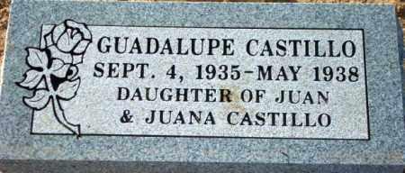 CASTILLO, GUADALUPE - Maricopa County, Arizona   GUADALUPE CASTILLO - Arizona Gravestone Photos