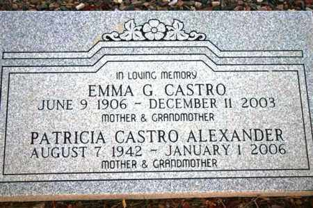 ECKLE CASTRO, EMMA G. - Maricopa County, Arizona | EMMA G. ECKLE CASTRO - Arizona Gravestone Photos
