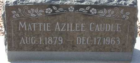 CAUDLE, MATTIE AZILEE - Maricopa County, Arizona | MATTIE AZILEE CAUDLE - Arizona Gravestone Photos