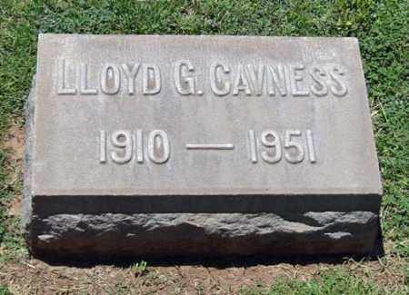 CAVNESS, LLOYD G. - Maricopa County, Arizona | LLOYD G. CAVNESS - Arizona Gravestone Photos