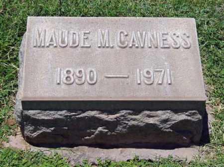 UTZ CAVNESS, MAUDE MELVINA - Maricopa County, Arizona   MAUDE MELVINA UTZ CAVNESS - Arizona Gravestone Photos