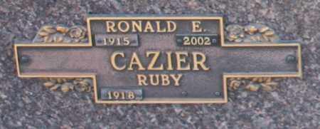 CAZIER, RONALD E - Maricopa County, Arizona | RONALD E CAZIER - Arizona Gravestone Photos