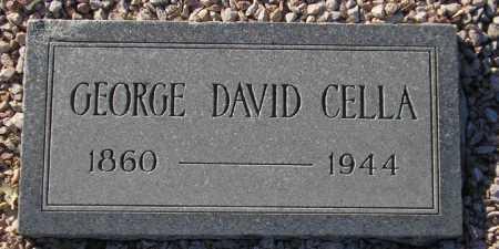 CELLA, GEORGE DAVID - Maricopa County, Arizona | GEORGE DAVID CELLA - Arizona Gravestone Photos