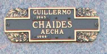 CHAIDES, GUILLERMO - Maricopa County, Arizona | GUILLERMO CHAIDES - Arizona Gravestone Photos