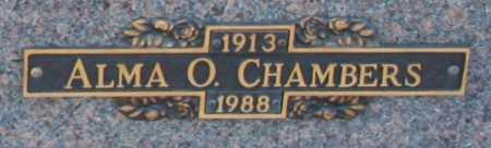 CHAMBERS, ALMA O - Maricopa County, Arizona | ALMA O CHAMBERS - Arizona Gravestone Photos