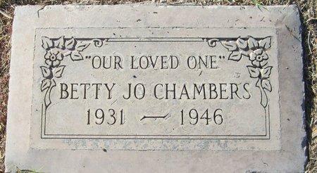 CHAMBERS, BETTY JO - Maricopa County, Arizona | BETTY JO CHAMBERS - Arizona Gravestone Photos