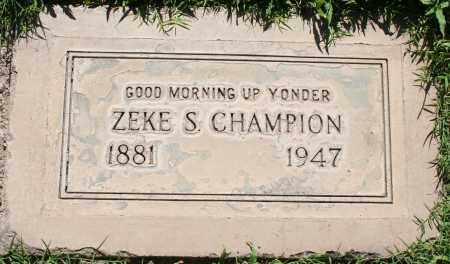CHAMPION, ZEKE SHARP - Maricopa County, Arizona | ZEKE SHARP CHAMPION - Arizona Gravestone Photos
