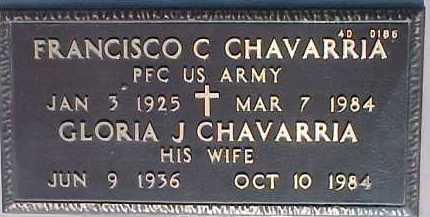 CHAVARRIA, GLORIA J. - Maricopa County, Arizona | GLORIA J. CHAVARRIA - Arizona Gravestone Photos