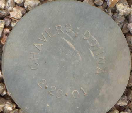 CHAVERS, DONNA - Maricopa County, Arizona   DONNA CHAVERS - Arizona Gravestone Photos
