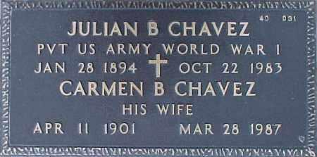 CHAVEZ, JULIAN B. - Maricopa County, Arizona | JULIAN B. CHAVEZ - Arizona Gravestone Photos