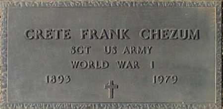 CHEZUM, CRETE FRANK - Maricopa County, Arizona   CRETE FRANK CHEZUM - Arizona Gravestone Photos