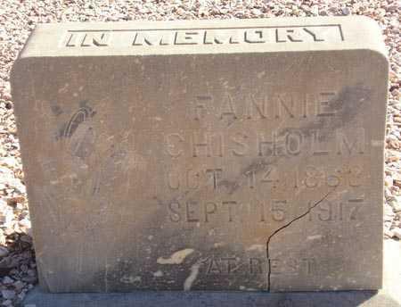 CHISHOLM, FANNIE - Maricopa County, Arizona | FANNIE CHISHOLM - Arizona Gravestone Photos