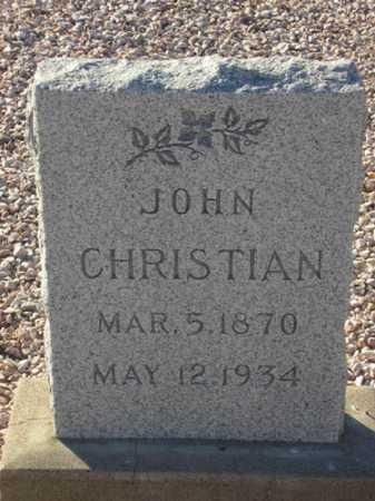 CHRISTIAN, JOHN - Maricopa County, Arizona | JOHN CHRISTIAN - Arizona Gravestone Photos