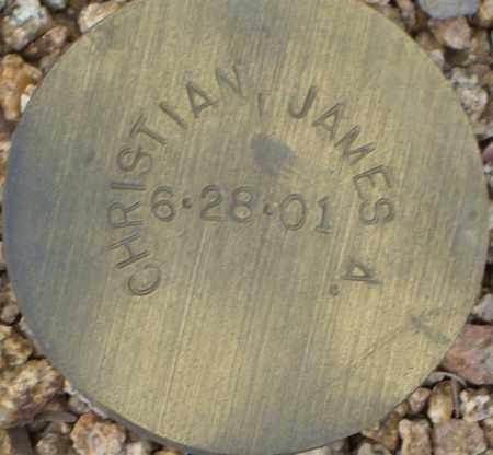 CHRISTIAN, JAMES A. - Maricopa County, Arizona | JAMES A. CHRISTIAN - Arizona Gravestone Photos
