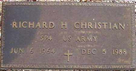CHRISTIAN, RICHARD H. - Maricopa County, Arizona | RICHARD H. CHRISTIAN - Arizona Gravestone Photos