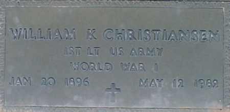 CHRISTIANSEN, WILLIAM K - Maricopa County, Arizona   WILLIAM K CHRISTIANSEN - Arizona Gravestone Photos