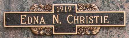 CHRISTIE, EDNA N - Maricopa County, Arizona   EDNA N CHRISTIE - Arizona Gravestone Photos