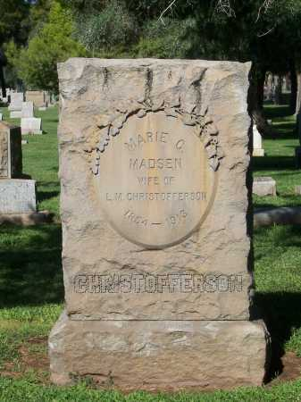 MADSEN CHRISTOFFERSON, MARIE C. - Maricopa County, Arizona | MARIE C. MADSEN CHRISTOFFERSON - Arizona Gravestone Photos