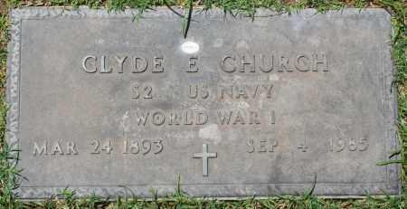 CHURCH, CLYDE E. - Maricopa County, Arizona   CLYDE E. CHURCH - Arizona Gravestone Photos
