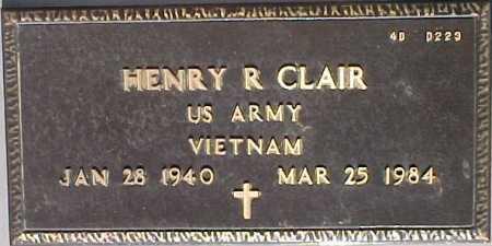 CLAIR, HENRY R. - Maricopa County, Arizona   HENRY R. CLAIR - Arizona Gravestone Photos