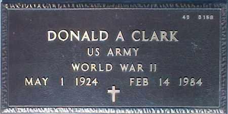 CLARK, DONALD A. - Maricopa County, Arizona   DONALD A. CLARK - Arizona Gravestone Photos