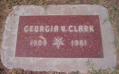 CLARK, GEORGIA V. - Maricopa County, Arizona | GEORGIA V. CLARK - Arizona Gravestone Photos