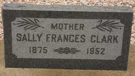 CLARK, SALLY FRANCES - Maricopa County, Arizona | SALLY FRANCES CLARK - Arizona Gravestone Photos
