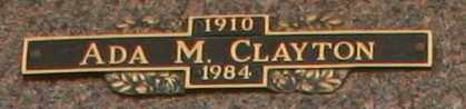 CLAYTON, ADA M - Maricopa County, Arizona | ADA M CLAYTON - Arizona Gravestone Photos