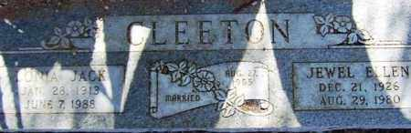 CLEETON, JEWEL ELLEN - Maricopa County, Arizona | JEWEL ELLEN CLEETON - Arizona Gravestone Photos