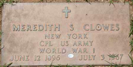 CLOWES, MEREDITH S. - Maricopa County, Arizona   MEREDITH S. CLOWES - Arizona Gravestone Photos
