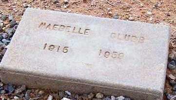 CLUBB, MAEBELLE - Maricopa County, Arizona | MAEBELLE CLUBB - Arizona Gravestone Photos