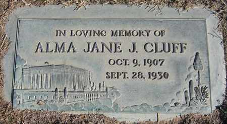 CLUFF, ALMA JANE J. - Maricopa County, Arizona | ALMA JANE J. CLUFF - Arizona Gravestone Photos