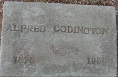 CODINGTON, ALFRED - Maricopa County, Arizona | ALFRED CODINGTON - Arizona Gravestone Photos