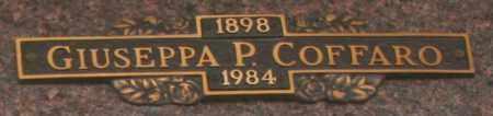 COFFARO, GIUSEPPA P - Maricopa County, Arizona   GIUSEPPA P COFFARO - Arizona Gravestone Photos