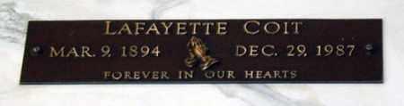 COIT, LAFAYETTE - Maricopa County, Arizona   LAFAYETTE COIT - Arizona Gravestone Photos