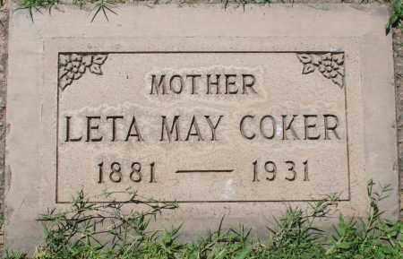 COKER, LETA MAY - Maricopa County, Arizona | LETA MAY COKER - Arizona Gravestone Photos