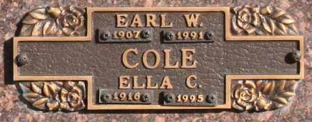 COLE, EARL W - Maricopa County, Arizona   EARL W COLE - Arizona Gravestone Photos