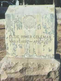 COLEMAN, ELSIE RIMER - Maricopa County, Arizona | ELSIE RIMER COLEMAN - Arizona Gravestone Photos