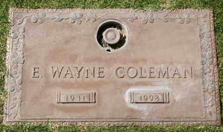 COLEMAN, E WAYNE - Maricopa County, Arizona | E WAYNE COLEMAN - Arizona Gravestone Photos