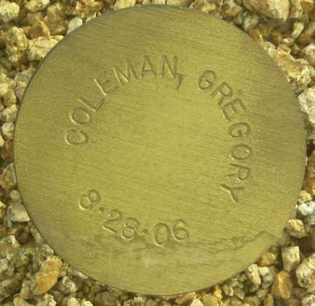 COLEMAN, GREGORY - Maricopa County, Arizona | GREGORY COLEMAN - Arizona Gravestone Photos