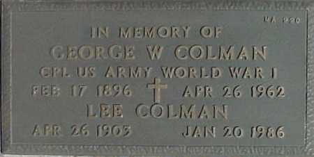 COLMAN, GEORGE W. - Maricopa County, Arizona | GEORGE W. COLMAN - Arizona Gravestone Photos