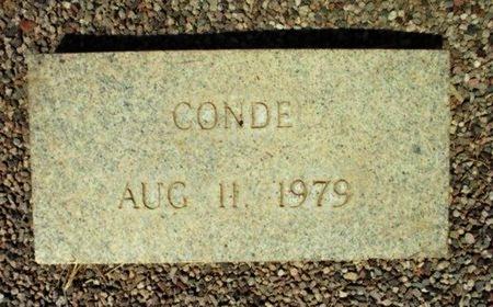 CONDE, UNKNOWN - Maricopa County, Arizona   UNKNOWN CONDE - Arizona Gravestone Photos