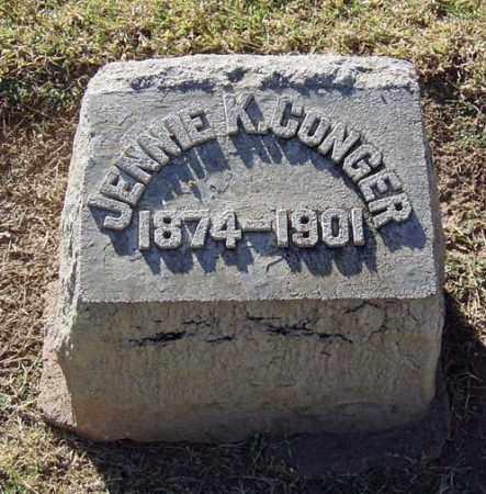 CONGER, JENNIE KURTZ - Maricopa County, Arizona   JENNIE KURTZ CONGER - Arizona Gravestone Photos