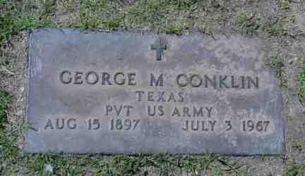 CONKLIN, GEORGE M. - Maricopa County, Arizona | GEORGE M. CONKLIN - Arizona Gravestone Photos