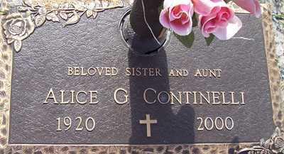 CONTINELLI, ALICE G. - Maricopa County, Arizona   ALICE G. CONTINELLI - Arizona Gravestone Photos